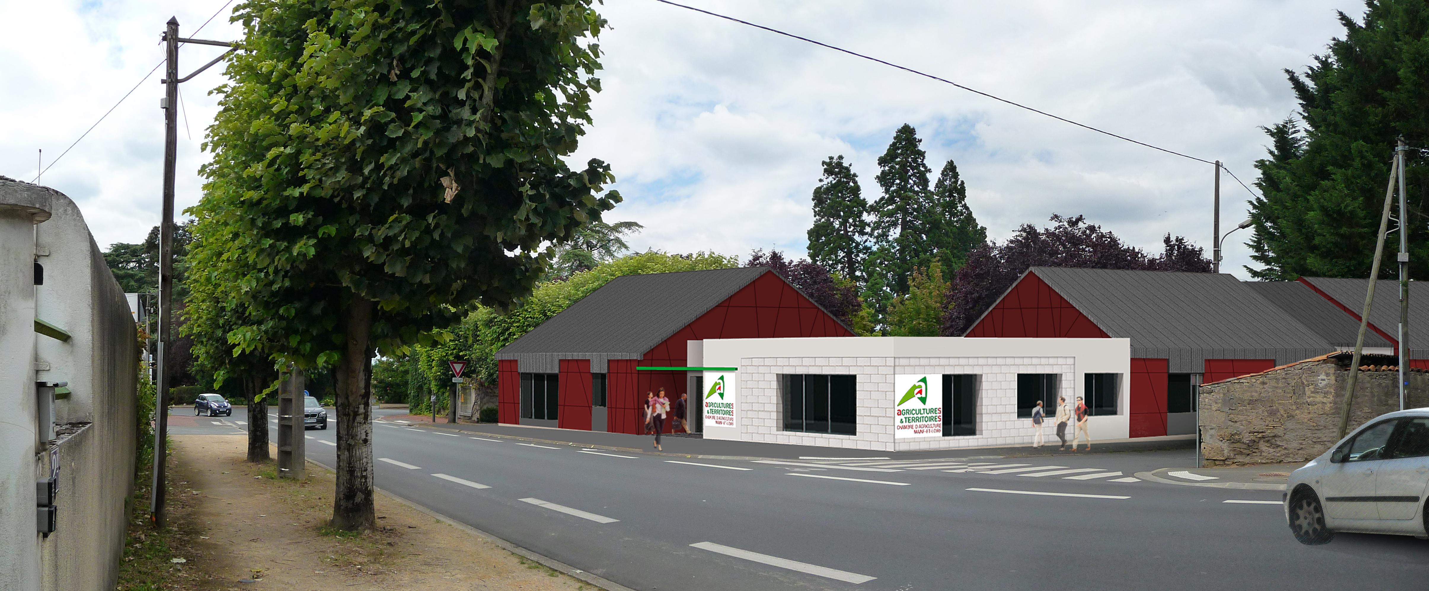 B-2014-53 Chambre d'agriculture - Doué la Fontaine (49)1737 - Insertion dans le site