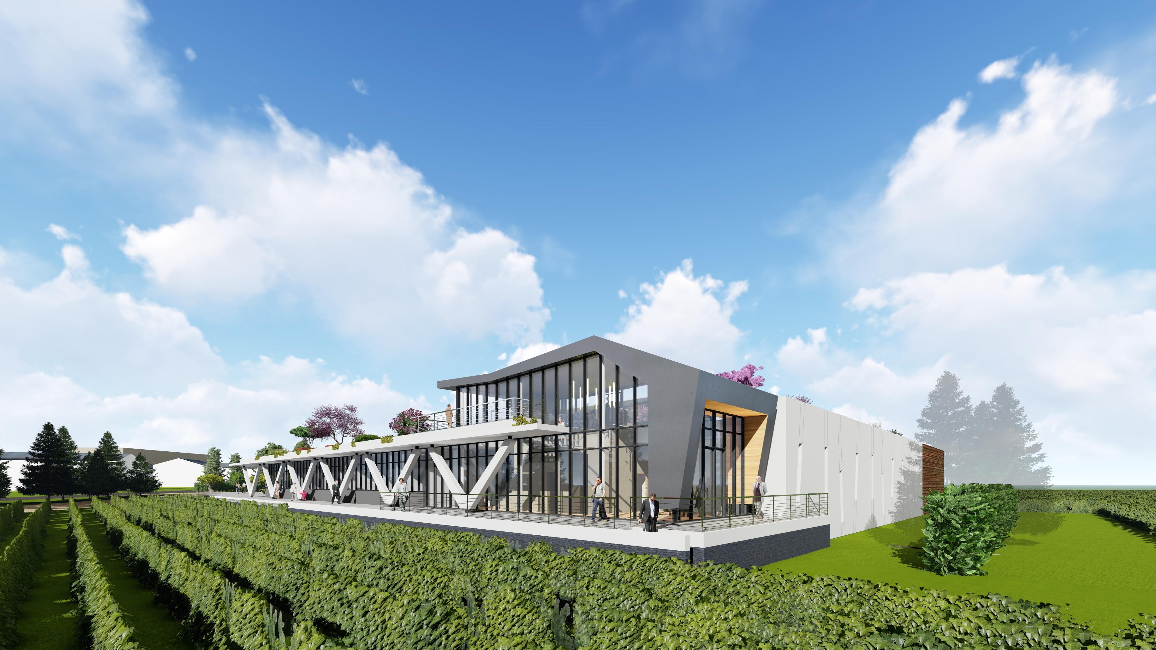 I - 2017-101 - CHÂTEAU LA VARIERE - Construction d'un nouveau chai - Vauchrétien (49) ©Rolland & associés1