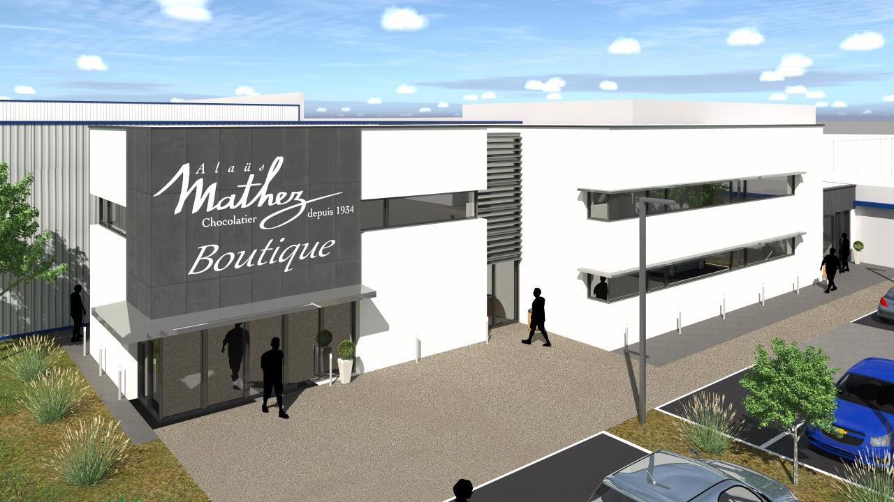 I-2018-11 MATHEZ - Extension entrepôts + bureaux - Châteauneuf sur Sarthe (49) - MATHEZ_01