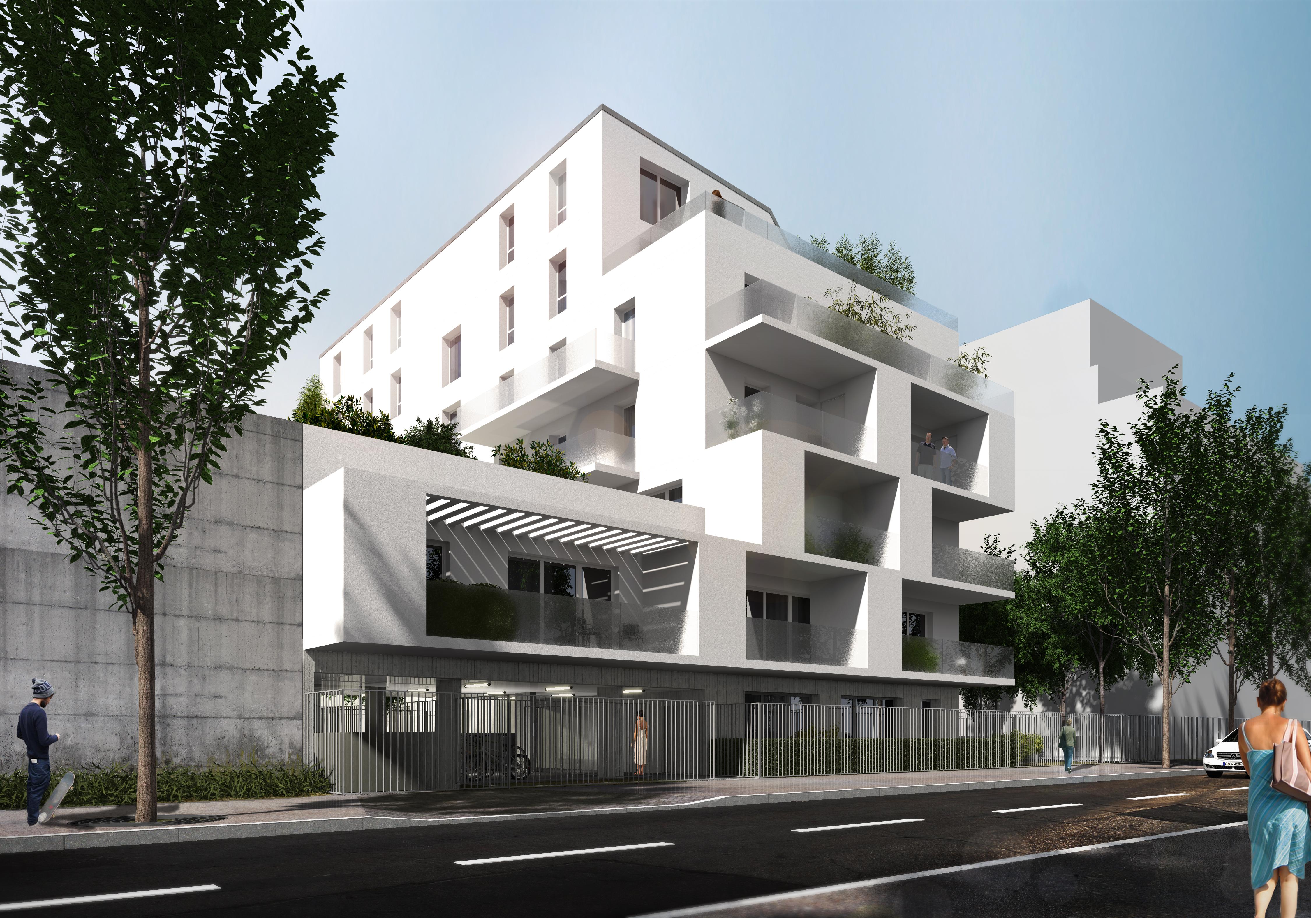 L-2015-08 Construction d'un immeuble de 30 logements - Choisy le Roi Vue Rue 01