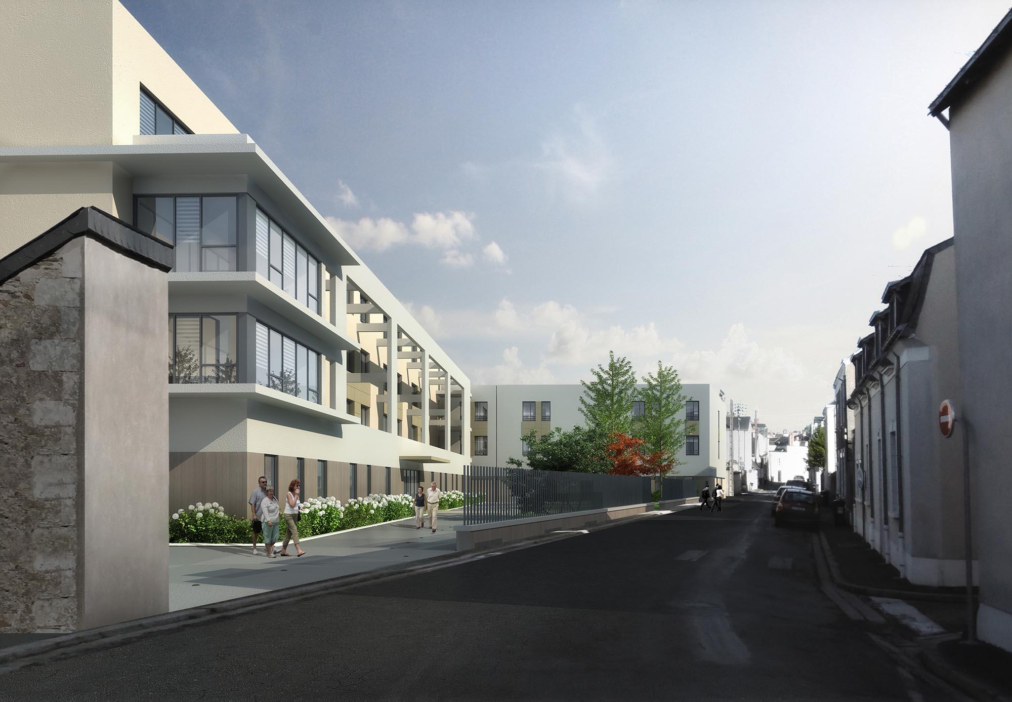 MR-2014-22 Construction EHPAD des Noisetiers - Rue Anne Franck - Angers (49) ©Rolland & associés2