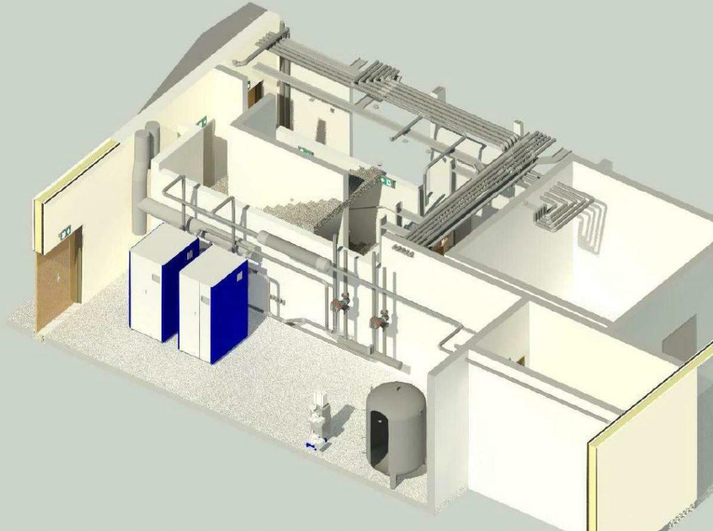 Bureau etude AB Ingenierie-BIM - Chaufferie ilot S3 - logements etudiants - Bouygues Immobiliers - Johanne San